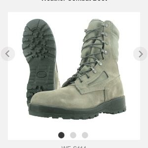 Shoes - Military Air Force Grey Suede combat Boots